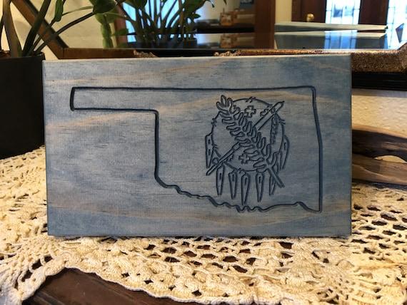 Oklahoma with Osage shield