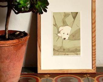 Watercolor illustration from Hachiko, original artwork