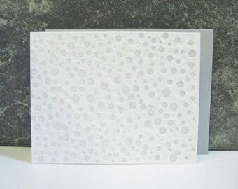Silver & White Dots Letterpress Card