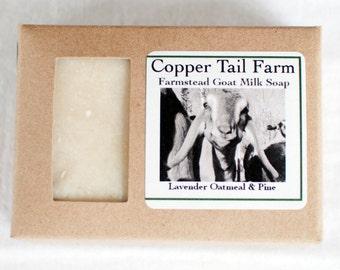 Organic Lavender Oatmeal Pine Goat Milk Soap