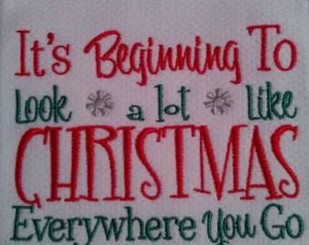 Christmas Dish Towel, Christmas Kitchen Towel, holiday dish towel