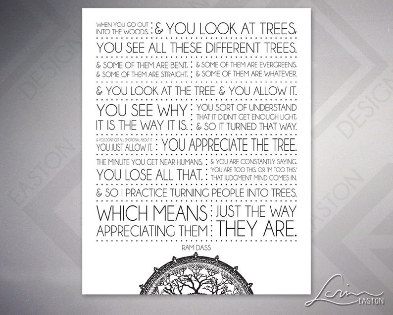 Ram Dass Turn People Into Trees 2 Versions With Or Etsy