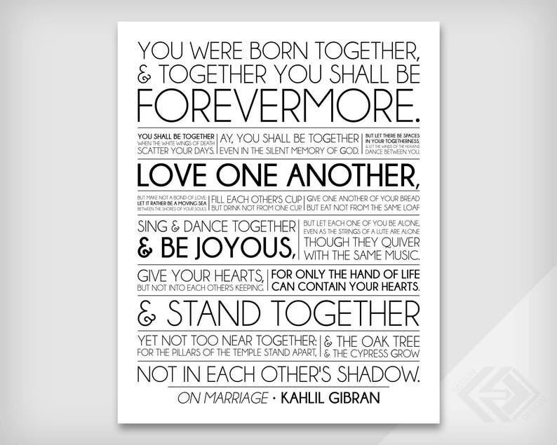 Il Matrimonio Kahlil Gibran Il Profeta Matrimonio O Etsy