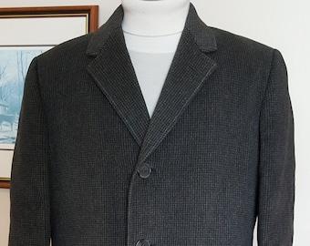 Vintage Mens  BESPOKE Long Wool Coat Size 39 Short,  Union Made WARREN K Cook-Canada's Top Mens Tailor- Mens Heavy Full Length Winter Coat