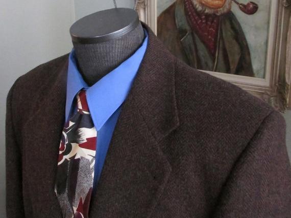 Mens Vintage Tweed Jacket/ Multi Browns Tweed Jack