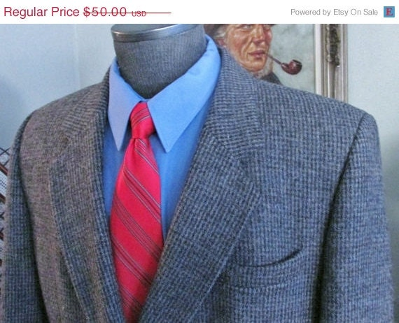 Vintage Mens Tweed Jacket ,Mens Double Breasted Tw
