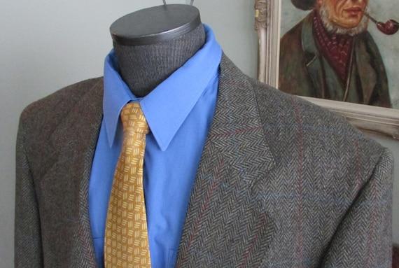 VINTAGE  TWEED Mens Jacket/ Mans Tweed Herringbone
