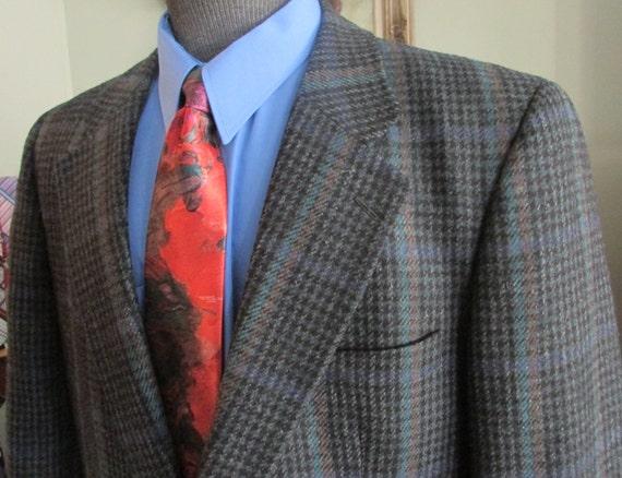 VINTAGE Mens Tweed Jacket, Size 42 Mens Tweed Blaz