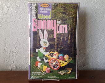 Arrow Paint By Number Dimensional Bunny /& Cart