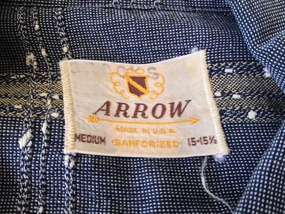 Vintage Long Sleeve Arrow Loop Collar Shirt - image 5