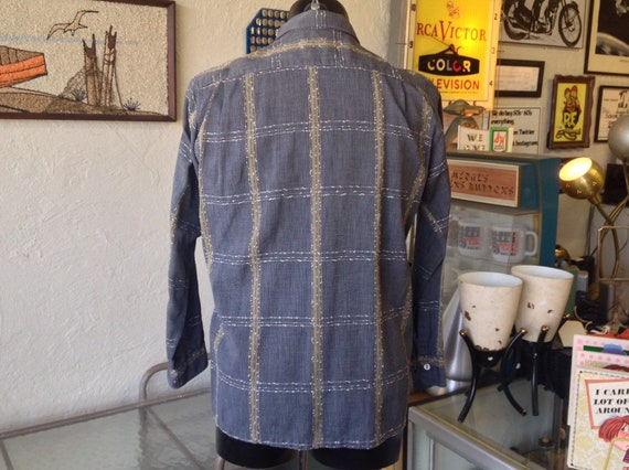 Vintage Long Sleeve Arrow Loop Collar Shirt - image 2