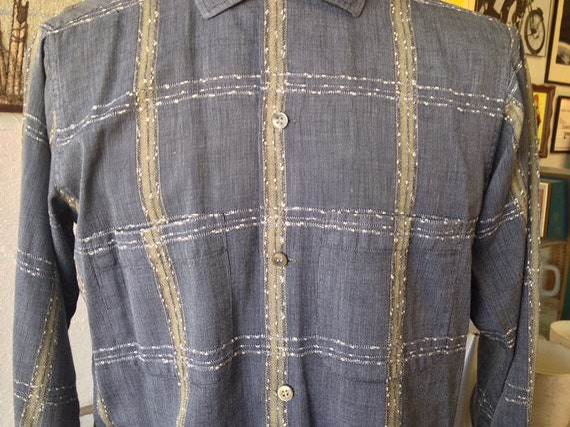 Vintage Long Sleeve Arrow Loop Collar Shirt - image 3