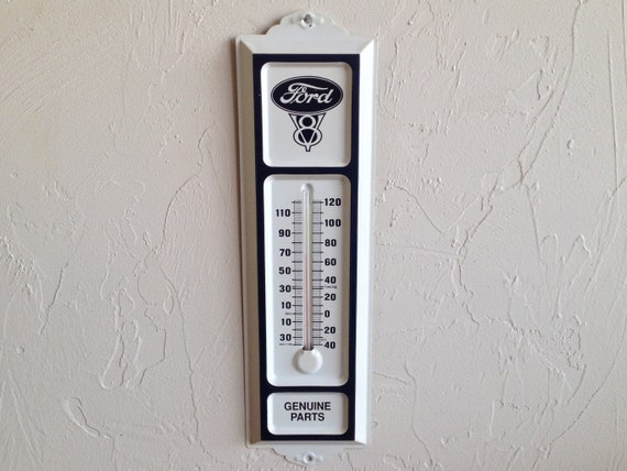 Ford  Ford Parts V8 Thermometer Ford Sign