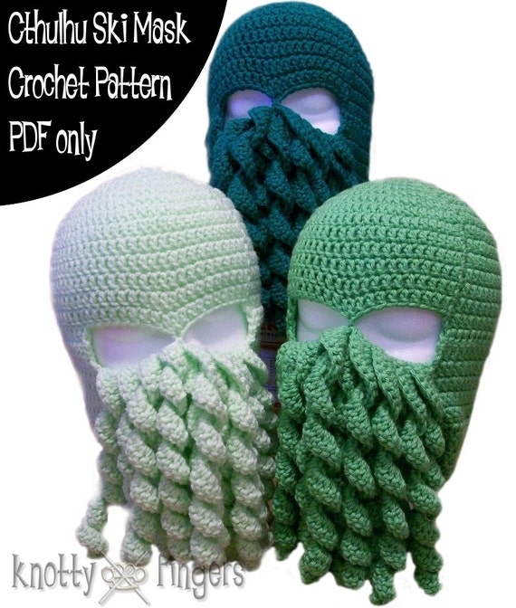 Crochet Pattern Cthulhu Ski Mask Pdf File Only Etsy