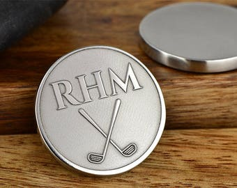 Golf Gifts for Men, Golf Ball Marker, Monogram Golf Ball Marker, Personalized Ball Marker, Golf gifts for men, ANY TEXT 40 Char! Made in USA