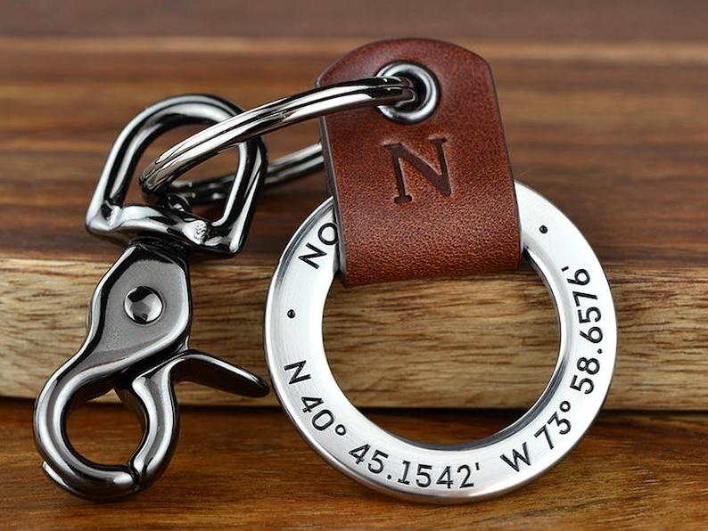 5cb73f8cdeb10 Mens Personalized Anniversary Gift for Men Custom Coordinates