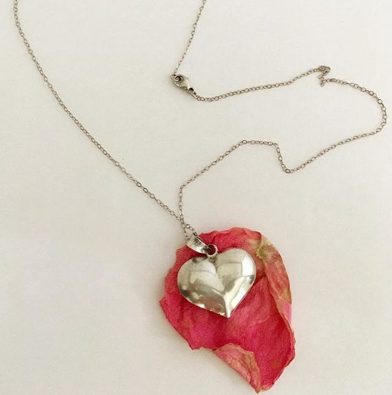 Sterling Silver Necklace with Little Sweet Heart Pendant
