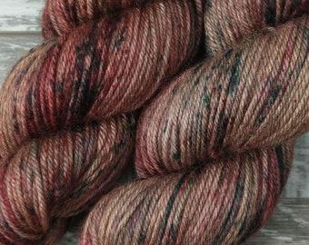 RTS Vintage Christmas Yak Silk DK Light Worsted Superwash Merino Wool Yarn Yak Silk Yarn Red and Green Speckles