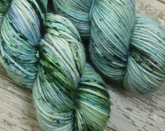 RTS Bob's Happy Little Trees Artist Collection SW DK Light Worsted Weight Yarn Blue Green Yarn Brown Speckled Yarn