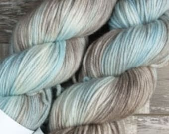 RTS Winter Storm Signature Series SW DK Light Worsted Weight Yarn Variegated Baby Blue Yarn Pastel Taupe White