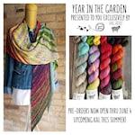 PREORDER Year in the Garden Shawl Kit Basic Sock Fingering Weight Sock Yarn 50g Colorways 20g Mini Skeins Yarn Garden Collaboration