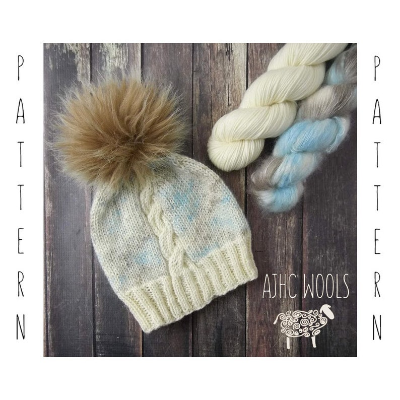 PDF Bare Cable Hat Knitting Pattern Digital File Only image 0