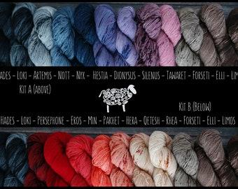 PREORDER Casapinka MKAL Crown Wools Kit Mini Skeins Micro Skeins Fingering Weight Yarn