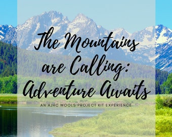 PREORDER - Mountains are Calling - 2021 Yarn Advent Calendar 400g total yarn + 2 Patterns in Knit or Crochet + Tools Notions Accessories