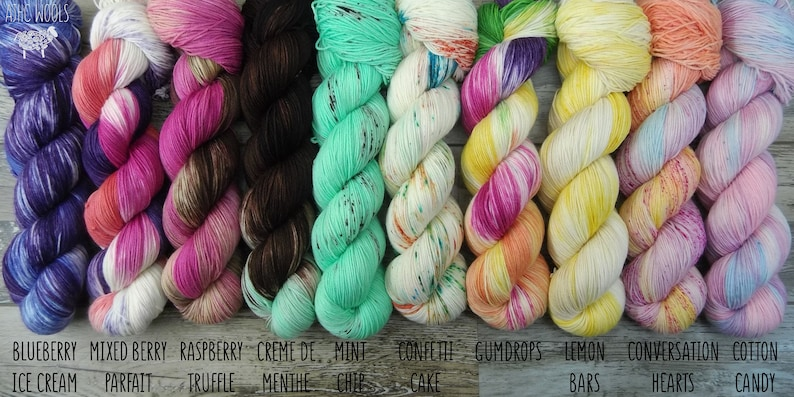 PREORDER Confection Collection variegated colorful hand dyed image 0