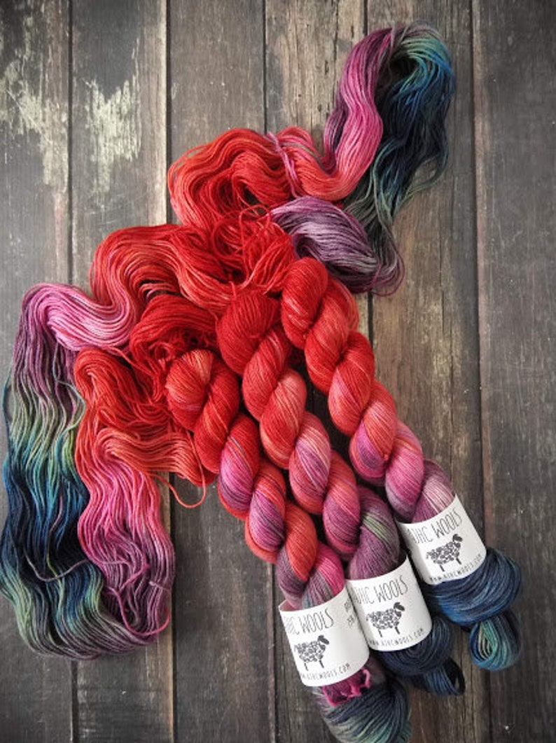 PREORDER Forage Summer Yarn Red Green Blue Yarn Variegated image 0