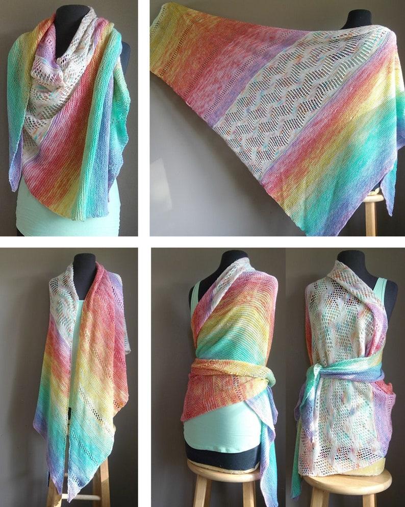 PDF Rainbow of Hope Shawl  Knit  Advent 2019 AJHC Wools image 0