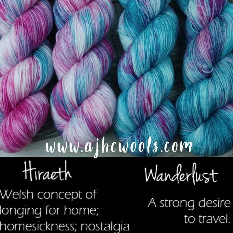 RTS Hiraeth and Wanderlust Opposites Basic Sock Yarn Fingering image 0