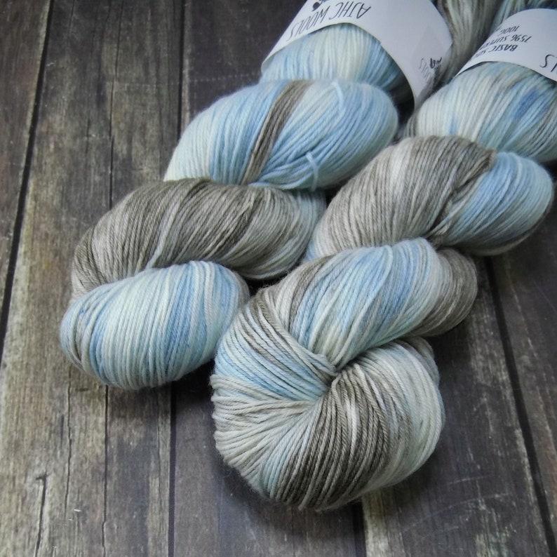Winter Storm Fingering Basic Sock Yarn Superwash Merino Wool image 0