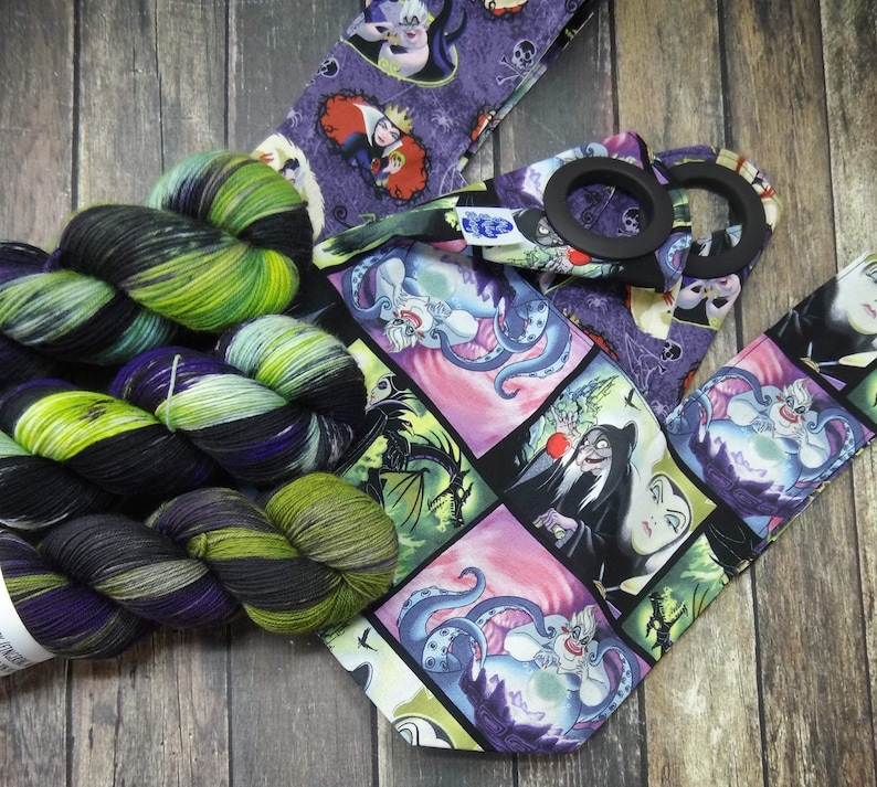 PREORDER Maleficent Reboot Yarn  Project Bag Square Knot Bag image 0