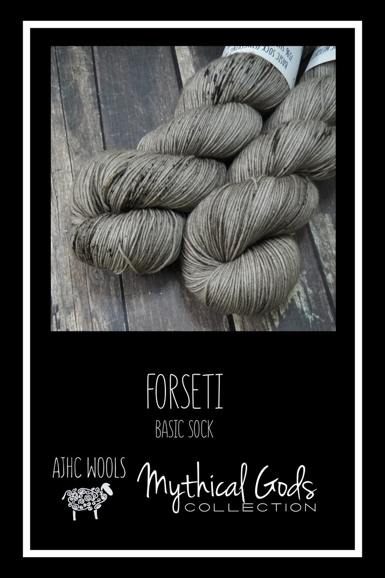 Forseti Fingering Basic Sock Yarn Brown Taupe Speckled Yarn image 0