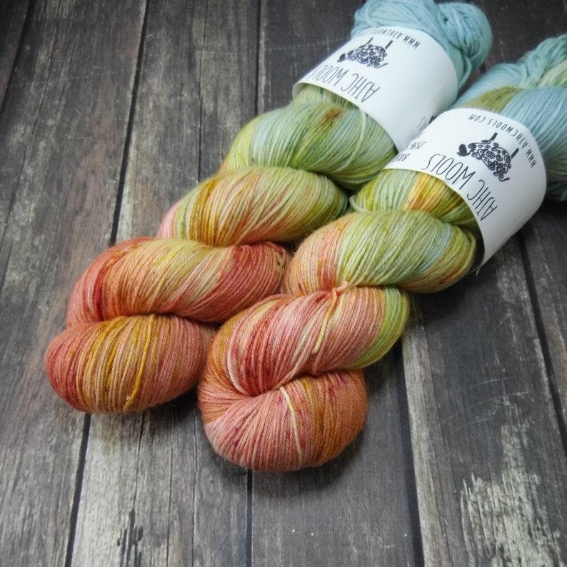Lovebirds Fingering Basic Sock Yarn Superwash Merino Wool Yarn image 0