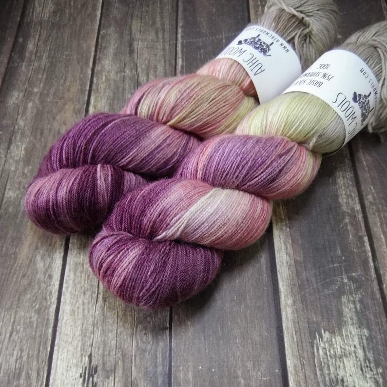 Bella Fingering Basic Sock Yarn Superwash Merino Wool Yarn image 0