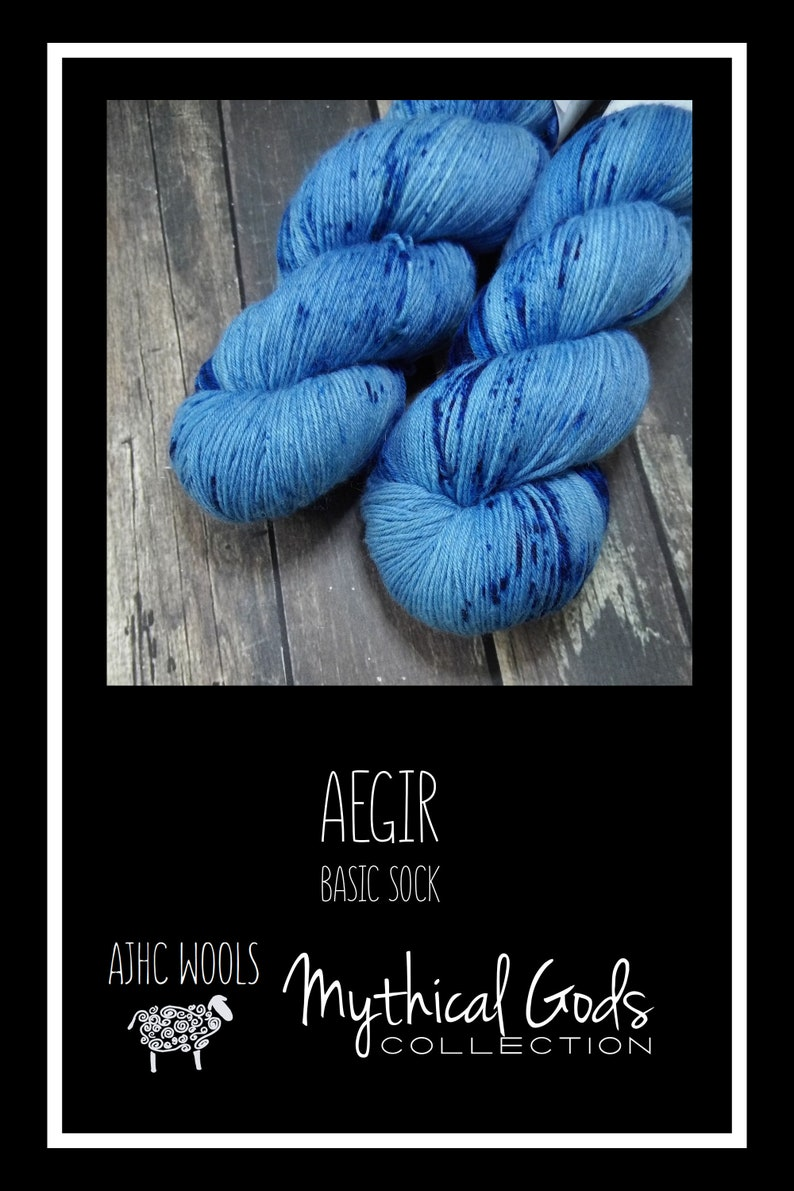 RTS Aegir Mythical Gods Collection Basic Sock Fingering Weight image 0