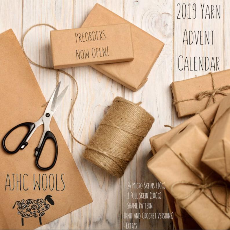 PREORDER Yarn Advent Calendar 2019 Basic Sock Fingering Weight image 0