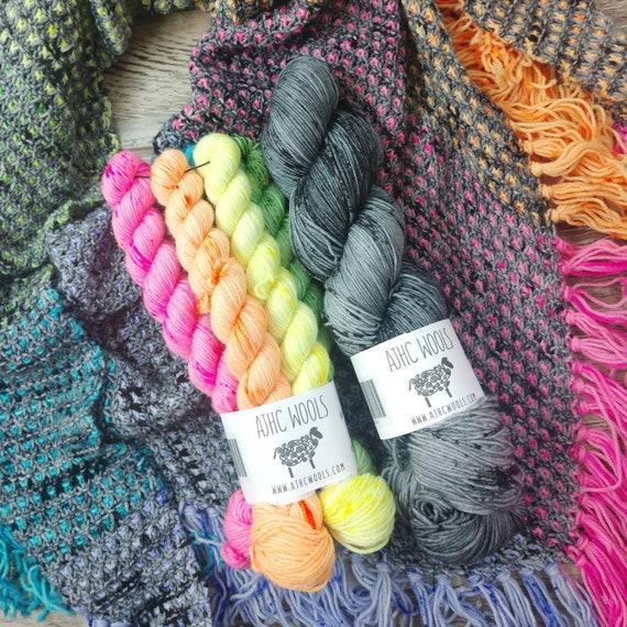 RTS Year in the Garden Shawl Kit Basic Sock Fingering Weight Sock Yarn 50g Colorways 20g Mini Skeins Yarn Garden Collaboration