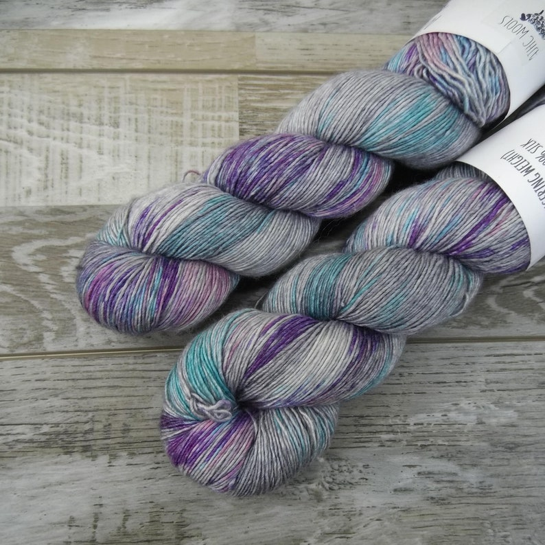 RTS Vintage Funk Sultry Single Fingering Weight Yarn Gray Grey image 0