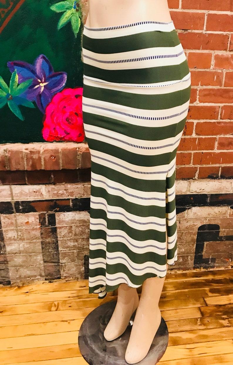 075066d36c Horizontal Green Stripes striped print Jersey Knit | Etsy