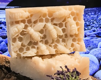 Crisp Peppermint Honey and Beeswax Soap