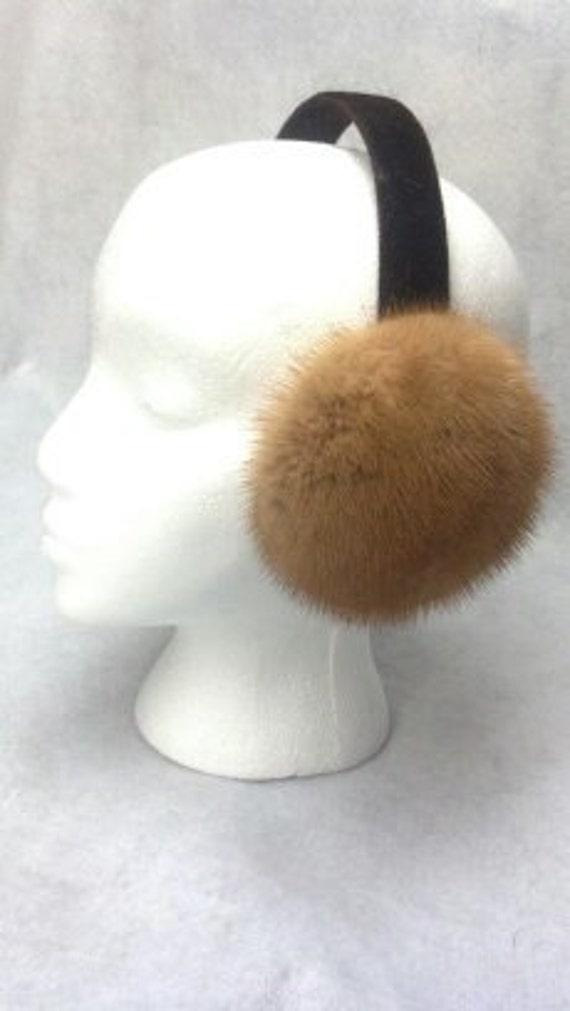 Ranch Mink Fur Earmuffs