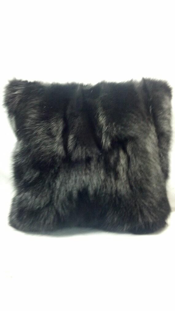 Real Genuine Kalgan Lamb Fur Forest Green Pillow New  made in usa fur cushion