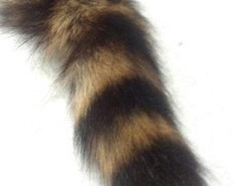 raccoon Fur Tail Keychain