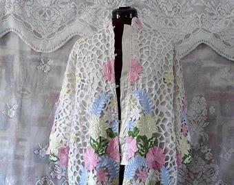 Sale 50% off original Floral embellished Lace Jacket