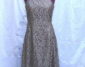 Sale Embroidered Silk Cocktail Audrey Hepburn Style Dress