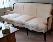 Vintage French Settee Wingback Louis XV style Sofa