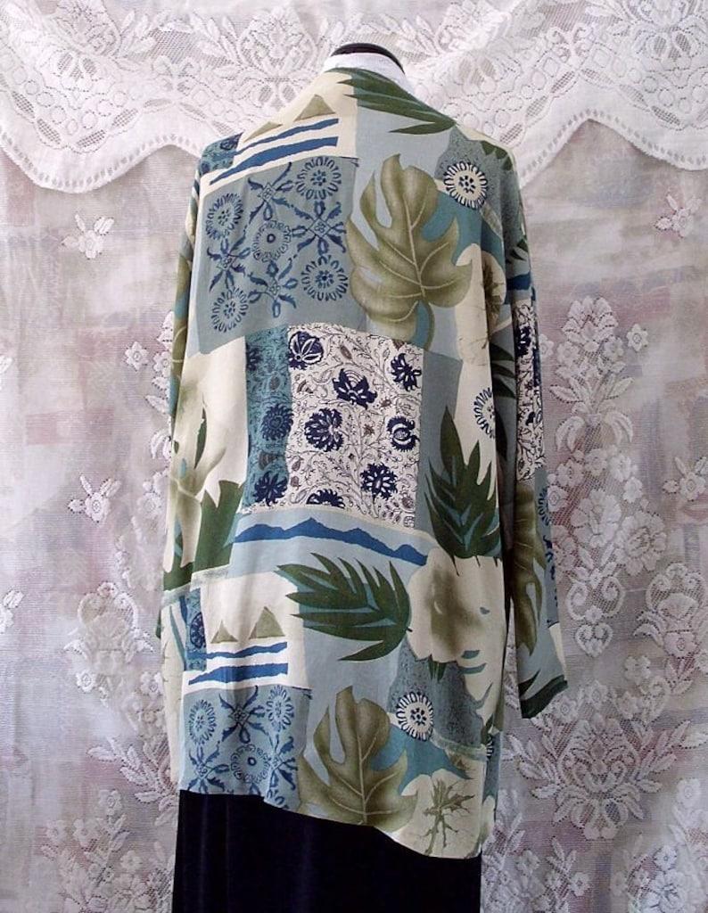 Sale Boho printed patchwork duster bolero #KheGreen